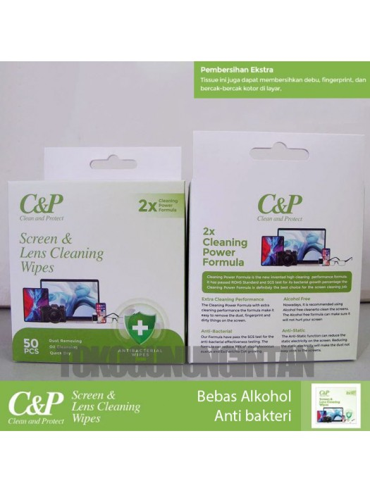 C&P Screen & Lens Cleaning Wipes